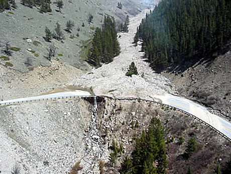 One of Many Debris Flows Affecting Beartooth Pass