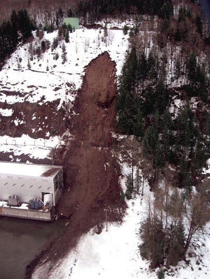 Debris Flow Impacted the Swift Powerhouse